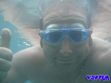 nage sous l'eau